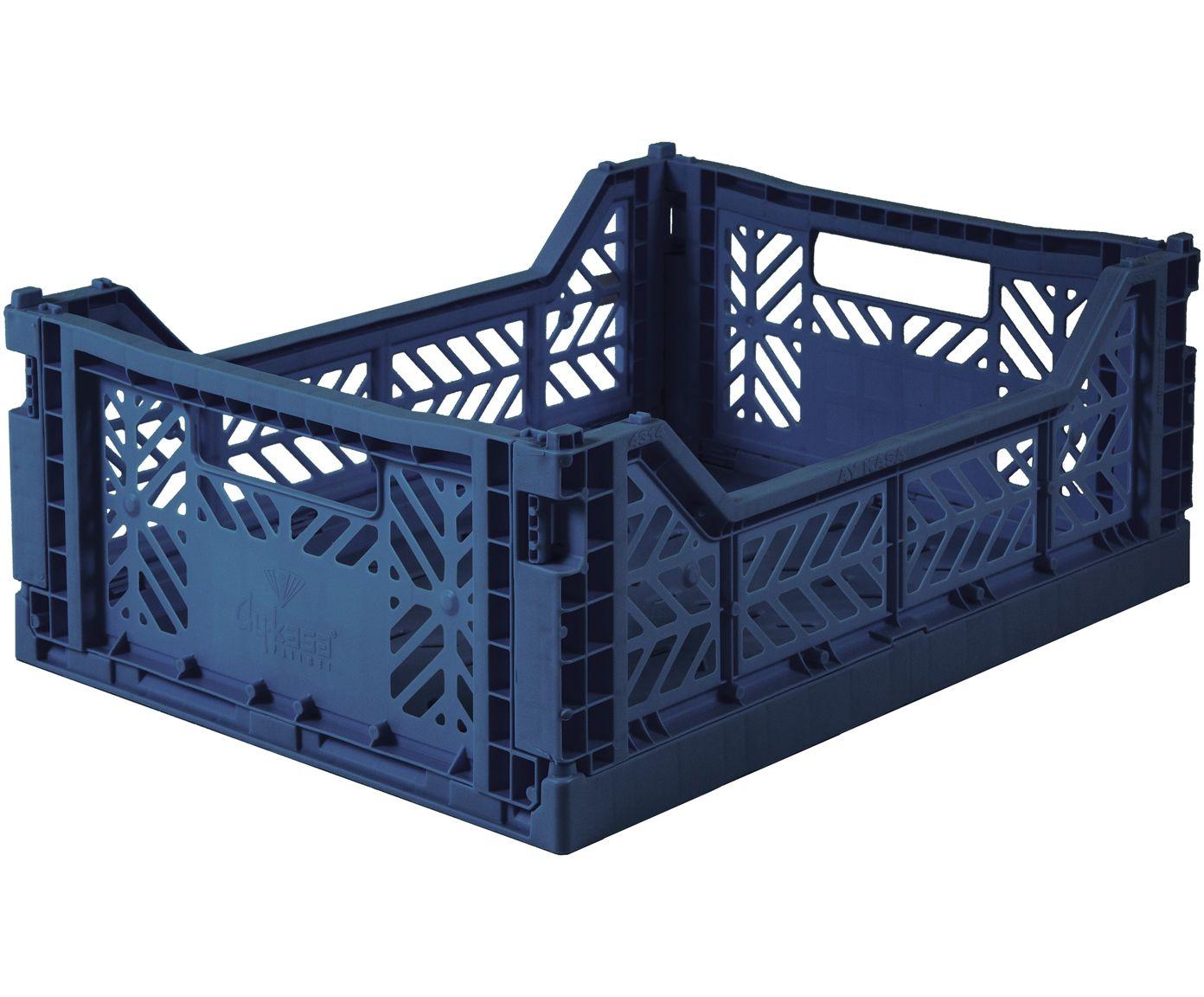Klappbox Navy Stapelbar Medium Blaue Mobel Kisten Aufbewahrung