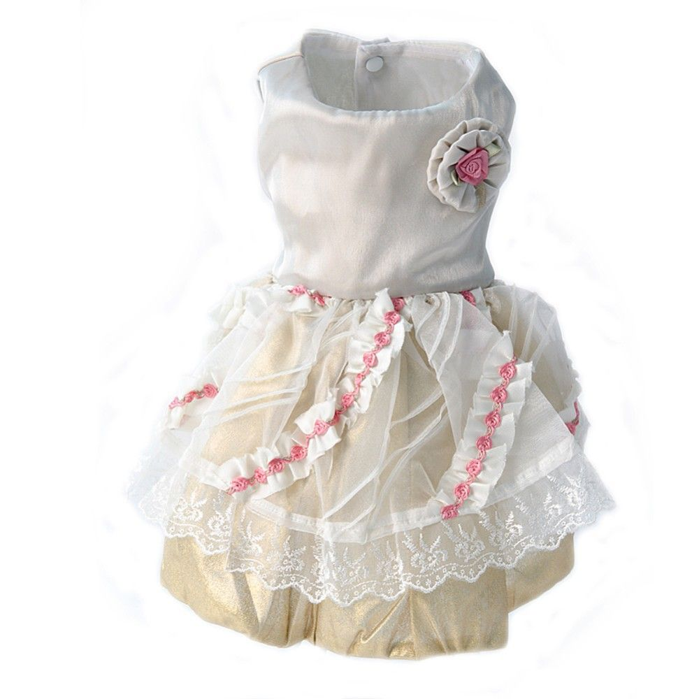 Lovely Spring and Summer Tulle dog dress Clothes Dress For dog clothes Pet Elegance Dresses rose line XS~XXL size