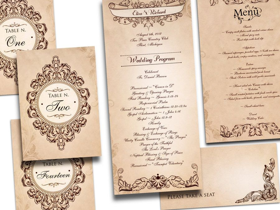 20+ Creative and Unique Vintage Wedding Invitations | 21st - Bridal ...