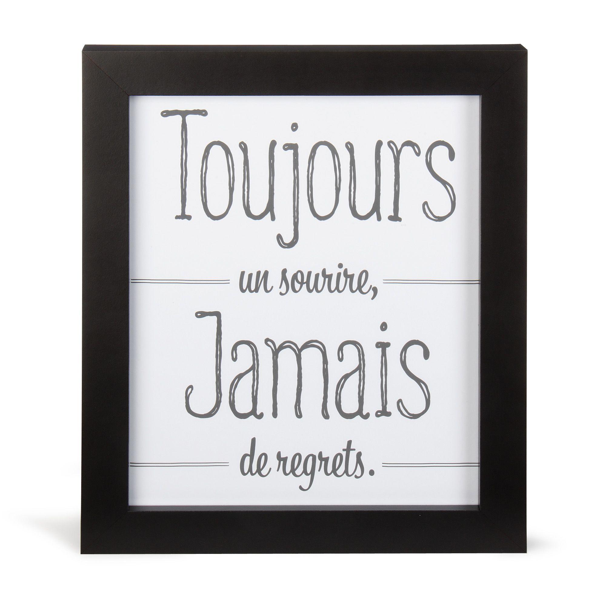 image encadr e 27x33cm noir et blanc toujours affiches d coratives affiches et d co murale. Black Bedroom Furniture Sets. Home Design Ideas