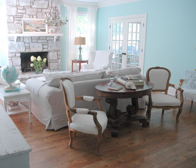 A Coastal Living Room Makeover By The, Furniture For Behind A Couch