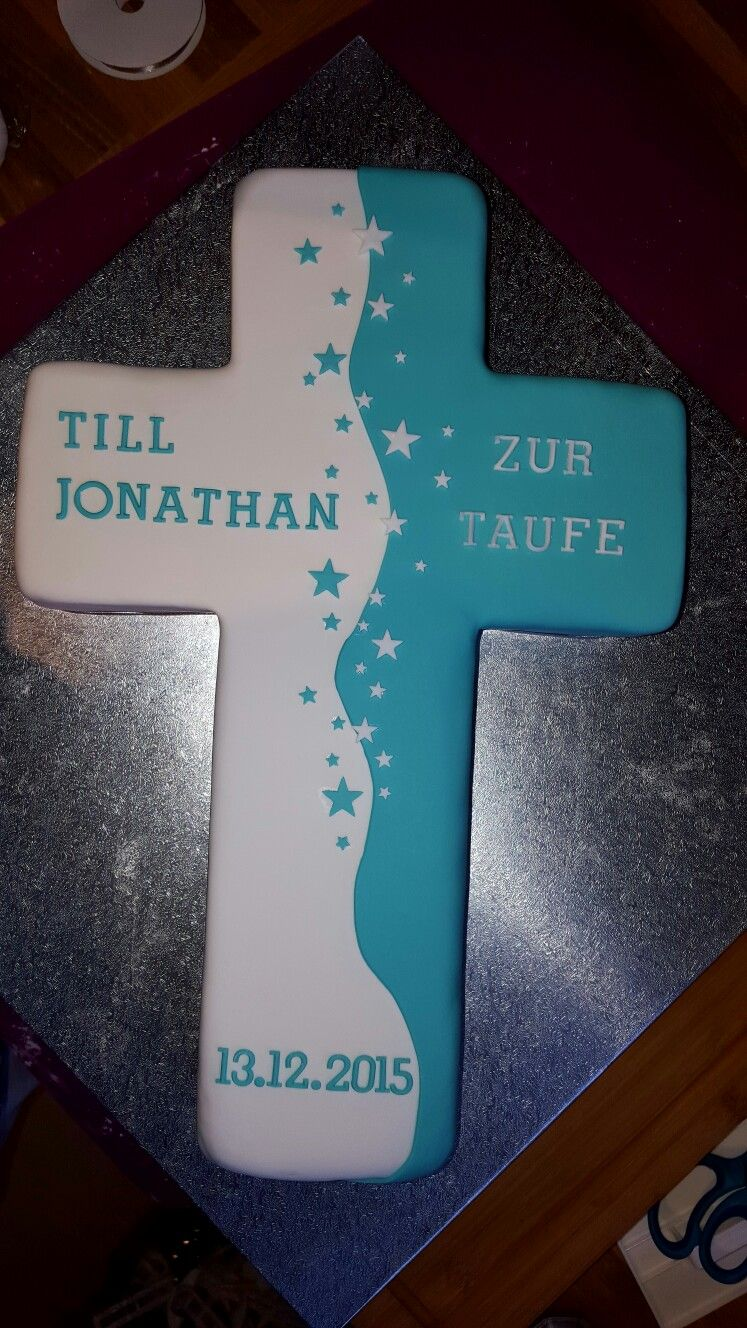 Photo of Cross cake for baptism