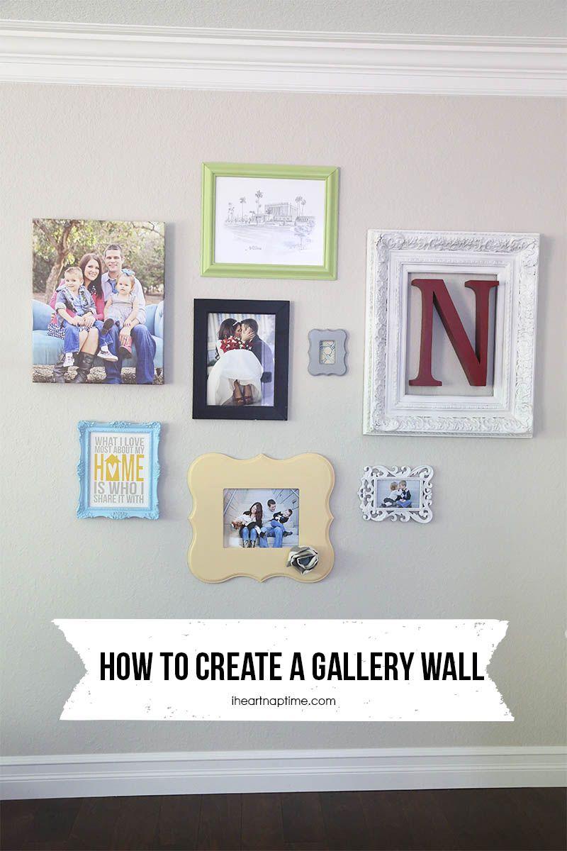 Ein rahmen zu hause design-ideen how to make a gallery wall on iheartnaptime diy homedecor