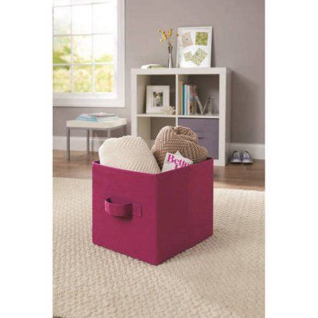 Better Homes And Gardens Collapsible Fabric Storage Cube, Set Of Multiple  Colors, Purple