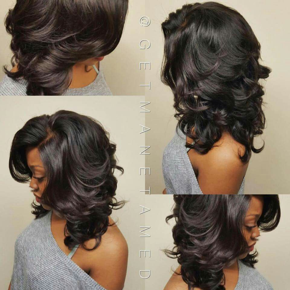 razor cuts. long bob. layered cuts. bob cuts. frontal sew in