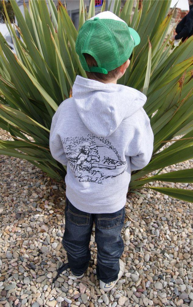 Raw Skin Infant Surfer Dude Zip-Up Sweatshirt