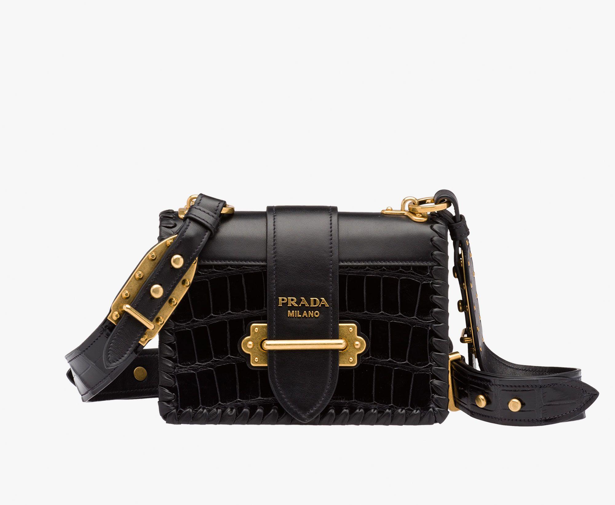7310f0a91bd840 Prada Woman - Prada cahier bag - Black - 1BD045_2EM7_F0002_V_OCJ. Thumbnail  1 ...
