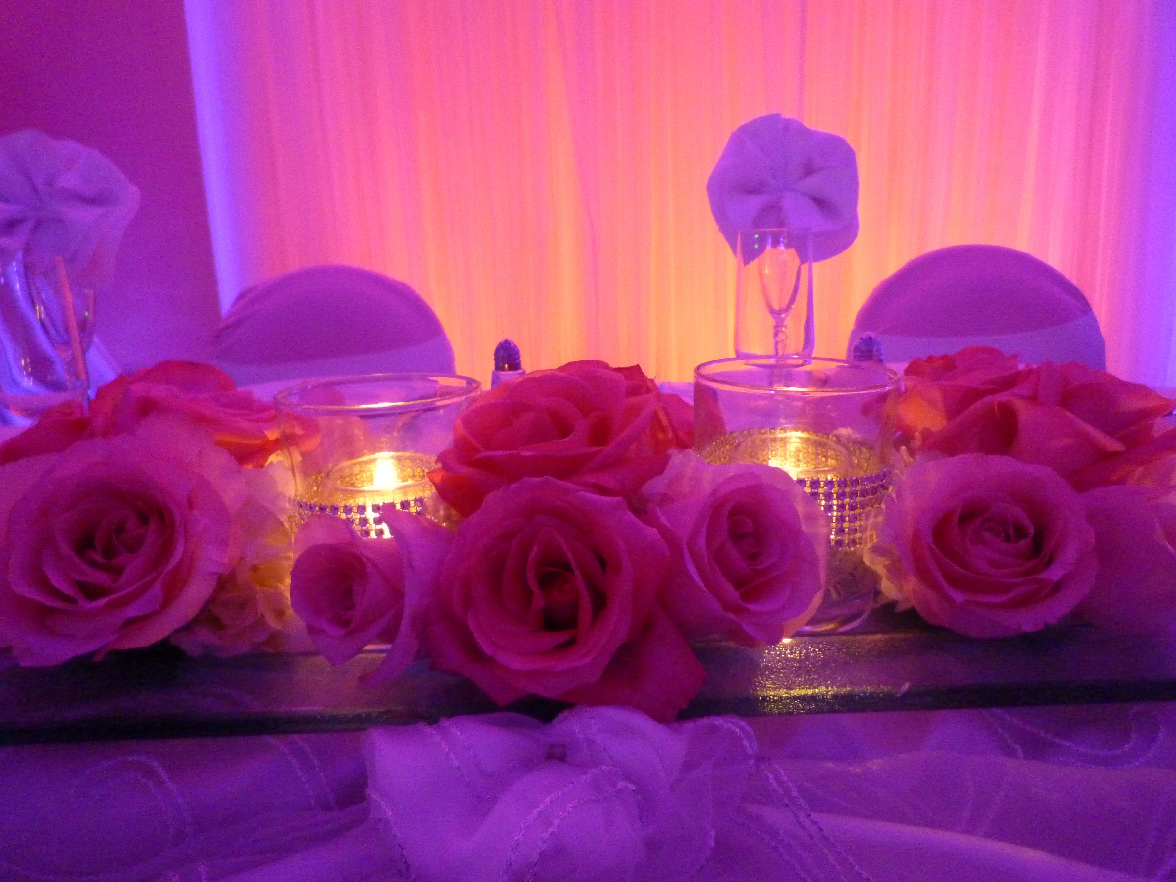 Wedding Reception Decoration With Flowers Centerpiece
