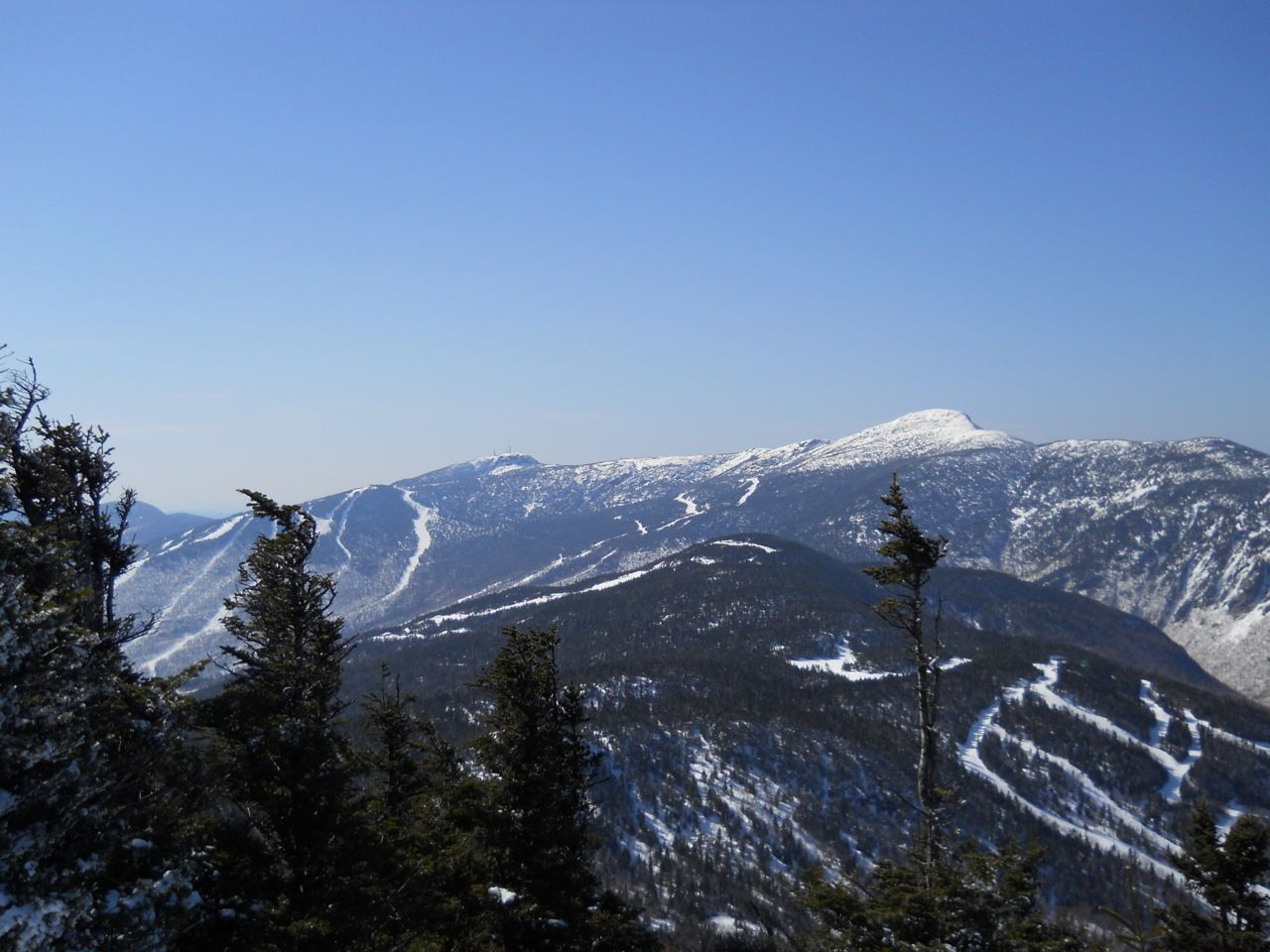 view looking towards mt. mansfield and stowe ski resort from