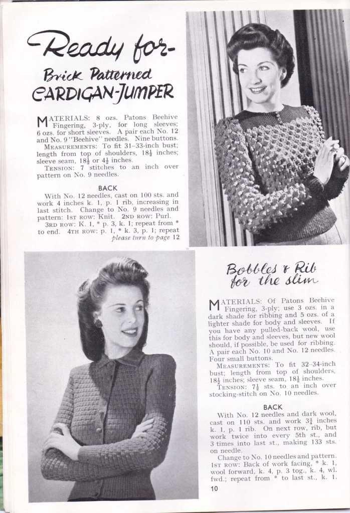 Vintage Knitting pattern womens WW2 Stitchcraft Dec 194312   Vintage ...