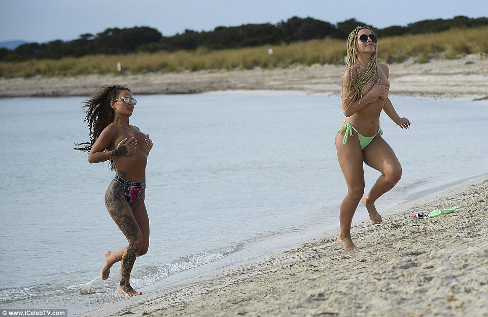 Chantelle Connelly And Katie Salmon Go Topless On Beach In Ibiza
