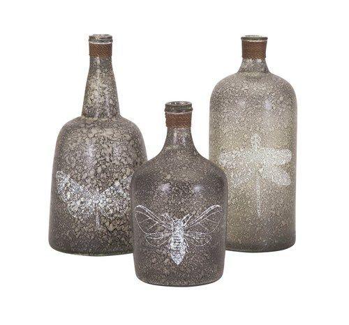 Folly Glass Bottles - Set of 3 95706-3