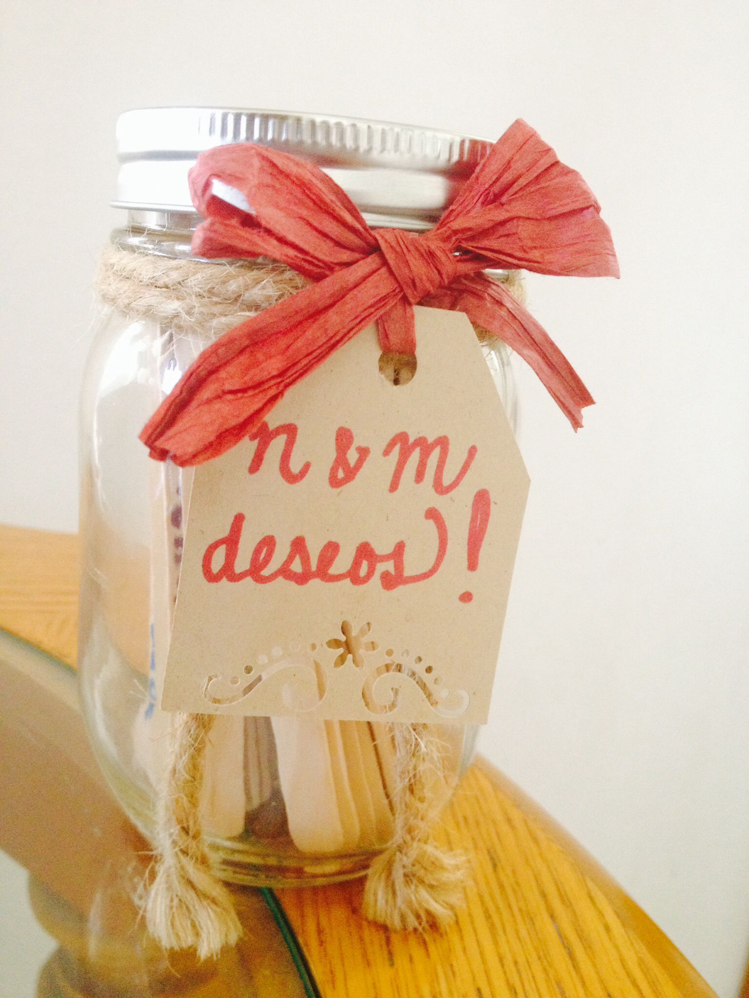 Deseos Idea Para Despedida De Soltera Mason Jar Palitos De Paleta Listones Made By Dahlia Takeout Container Hangover