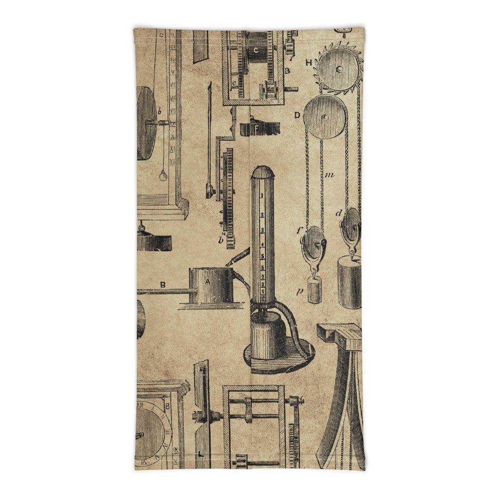 Instruments of Time Neck Gator Pedulum Clocks Vintage Timepieces Neck Gaiter
