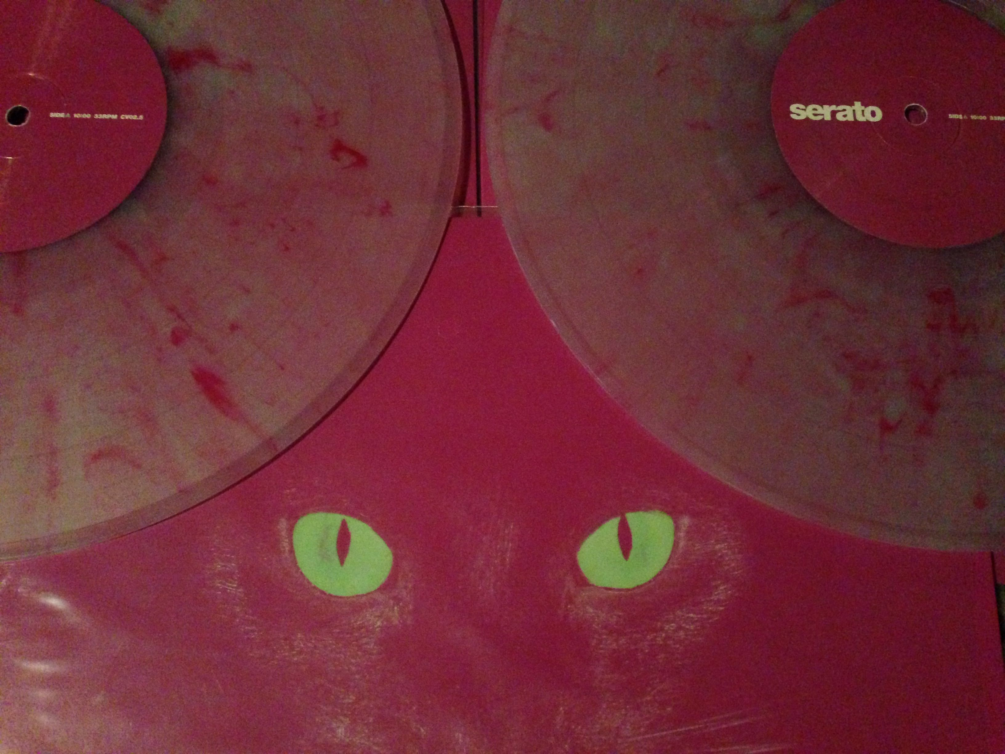 Serato Limited Edition Glow In The Dark Pink Translucent Marble By Day Control Vinyl Vinyl Dj Gear Glow In The Dark