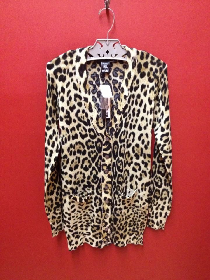 Ellison Leopard Print Sweater/Cardigan... read a full Stitch Fix ...