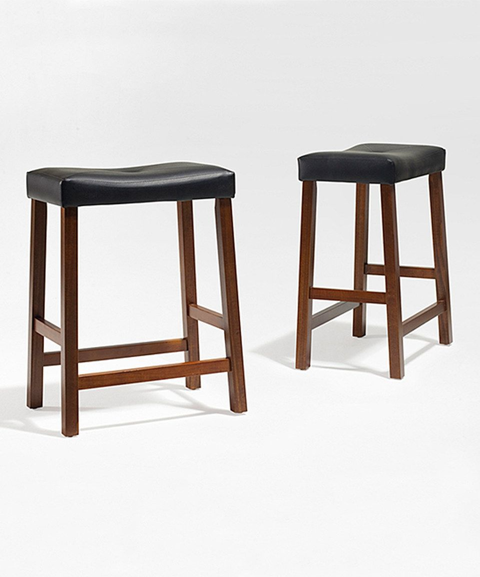 Love This Cherry Saddle Seat 24 Bar Stool Set Of Two By