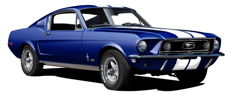1968 Ford Mustang Gt 390 Blue By Drogobroadband Ford Mustang