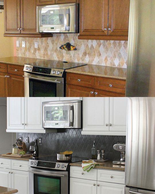 Renovar una cocina con bajo presupuesto reciclarte - Pintar muebles de cocina ...