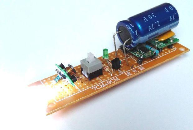Micro-usb 30F Supercapacitor Flashlight |   ELeCTRoNiC / WiRinG