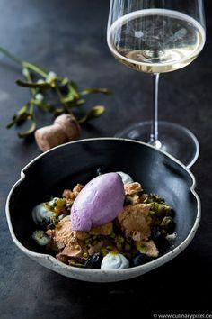 Blueberry Ice Cream, Pistachio Salt Brittle | Christmas Dessert