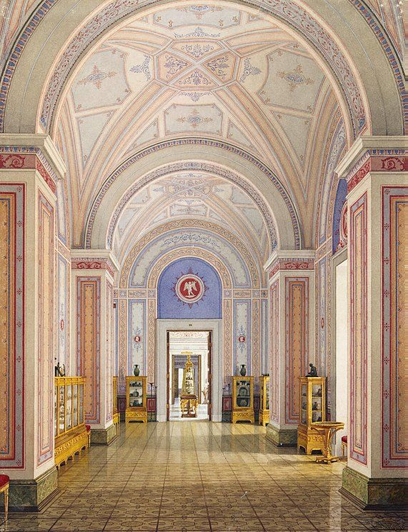 Interiors of the New Hermitage. The Room of Antiquities from Cimmerian Bosphorus