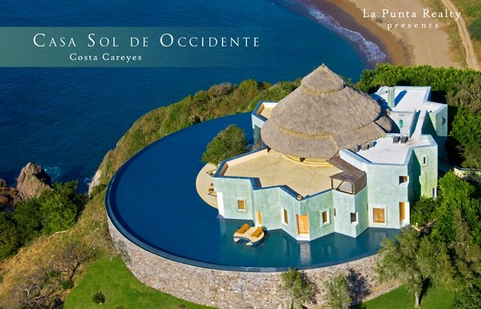 Careyes Mexico Map.Casa Occidente Hilltop Luxury A House In A Pool Costa Careyes