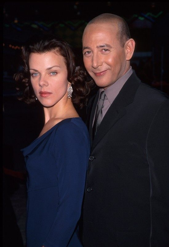 Paul Ruebens and his ex-girlfriend Debi Mazar