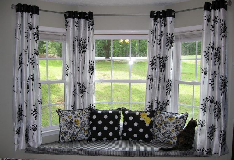 Tremendous The Most Effective Solutions To Your Bay Window Curtains Bralicious Painted Fabric Chair Ideas Braliciousco