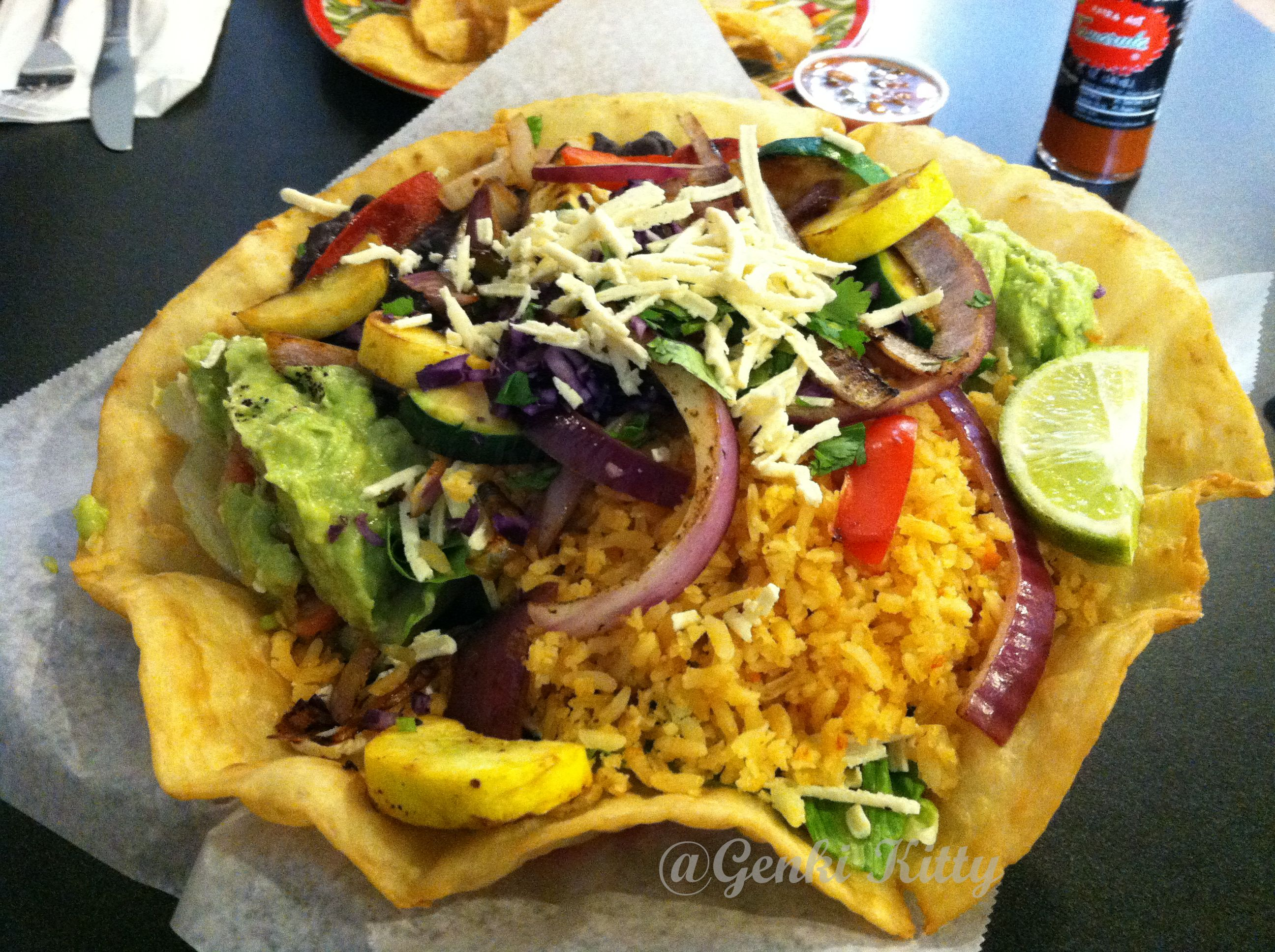 Vegan Taco Salad From Mucho Mas In La Porte Indiana Yes Thats