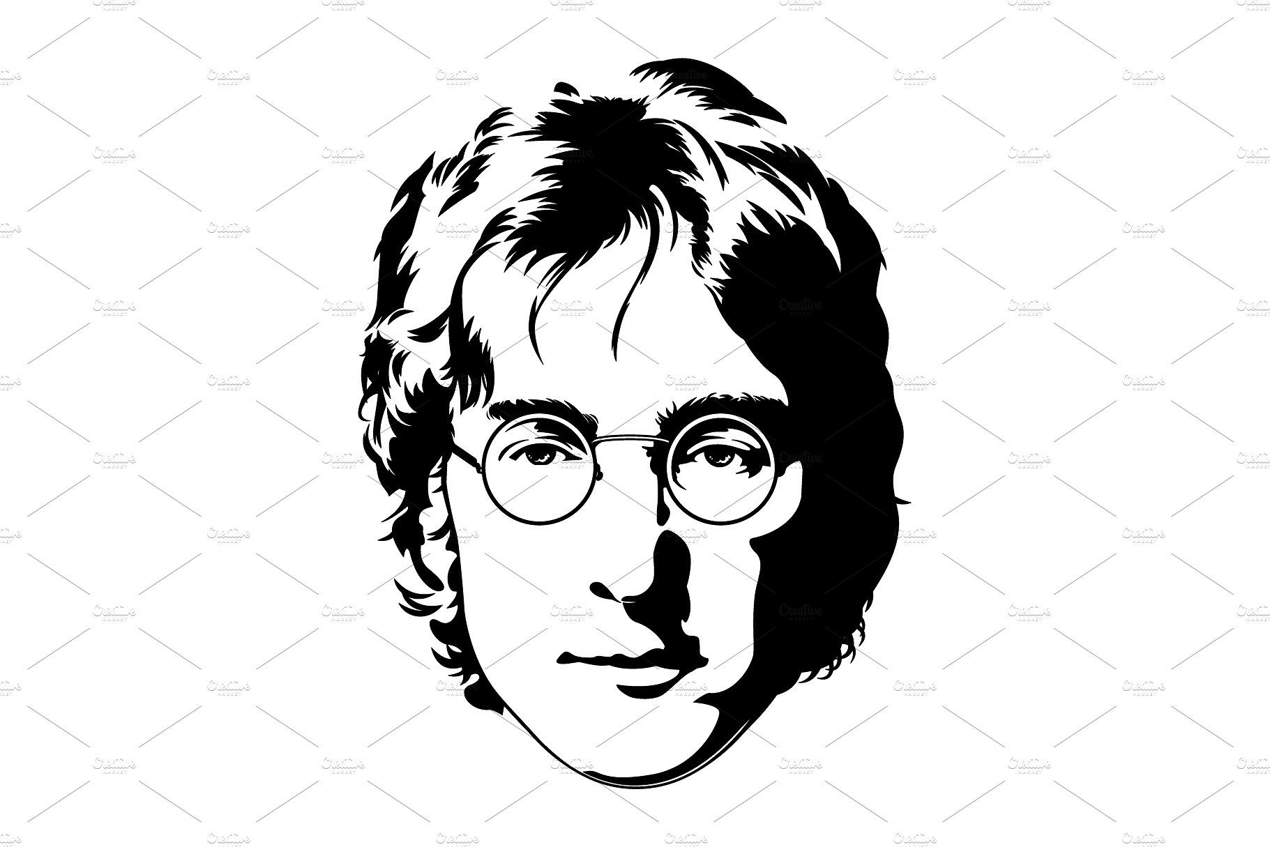 John Lennon Vector Illustration John Lennon Illustration