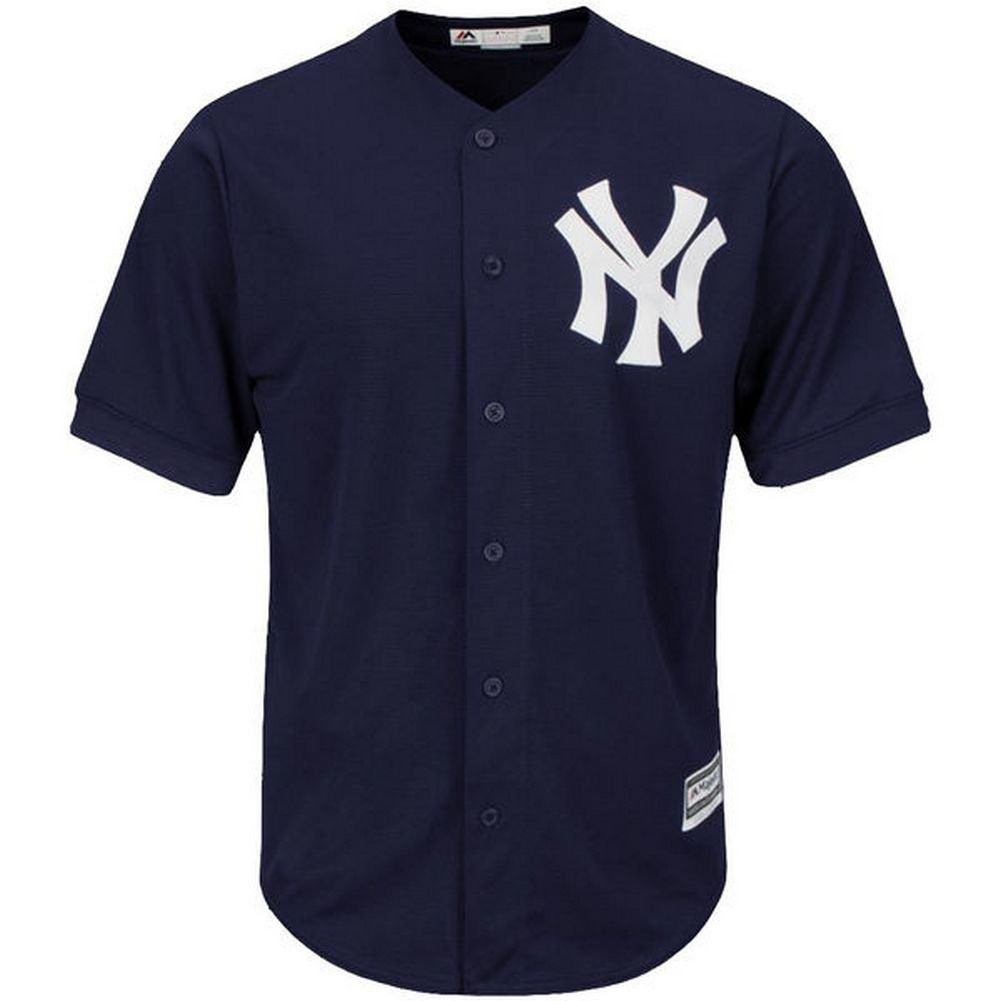 Majestic Mens New York Yankees Navy Official Cool Base Jersey Logo Back Size XL