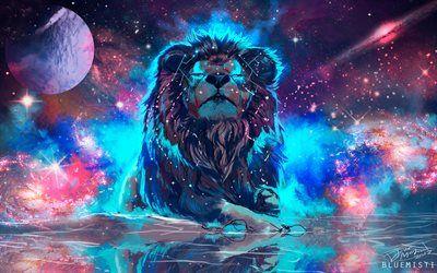 Télécharger fonds d'écran 4k, l'espace, le lion, l'art, la galaxie, nébuleuse | Fond d'écran ...