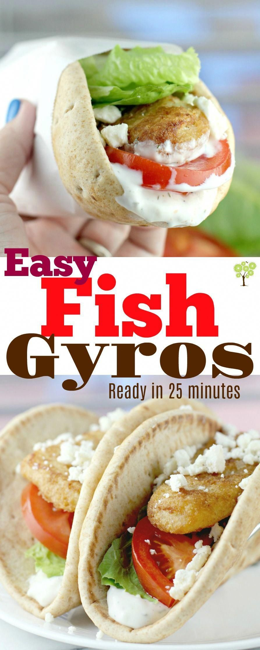 Easy Fish Gyros #GortonsMealTime #TrustGortons #food #Lent #recipe #seafood #quickdinner #ad #FishRecipes