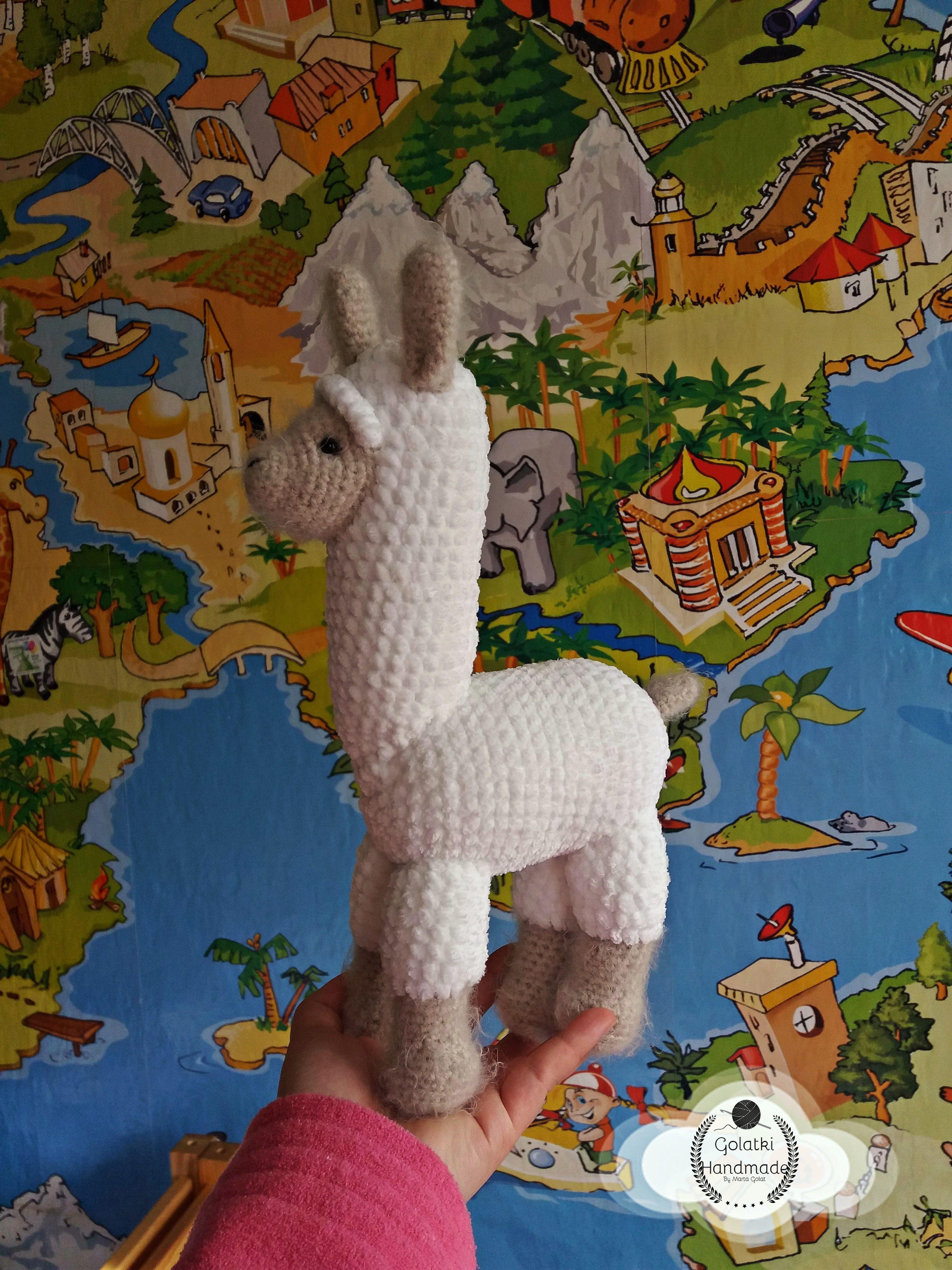 Lama LLLLLama in my living room Orginal pattern from / wzór od ...