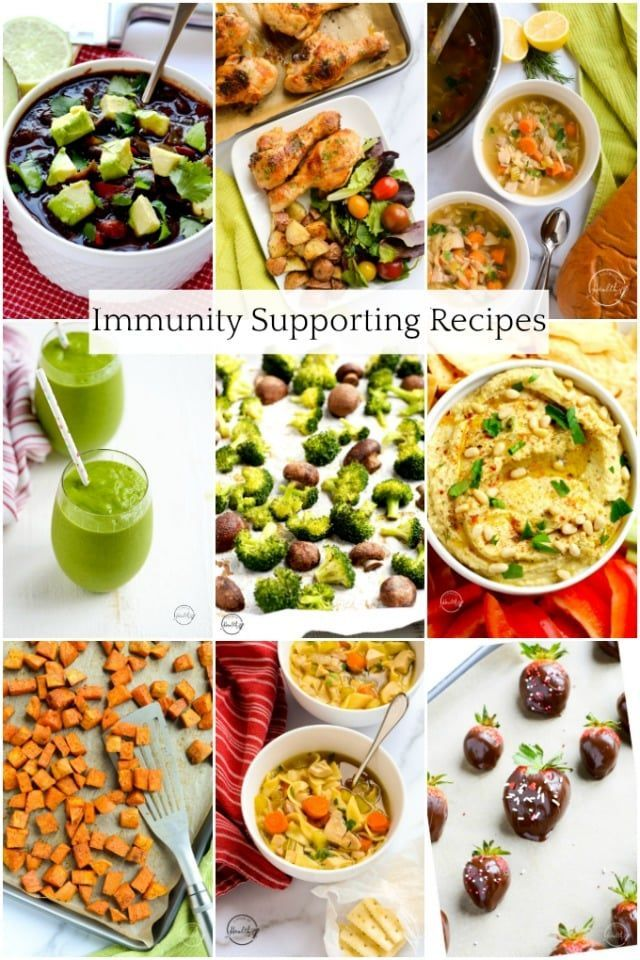 Immunity Supporting Recipes (soups, smoothies, sides and