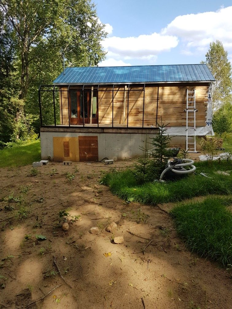 Pin by Guy Theriault on finition chalet mur exterieur Pinterest