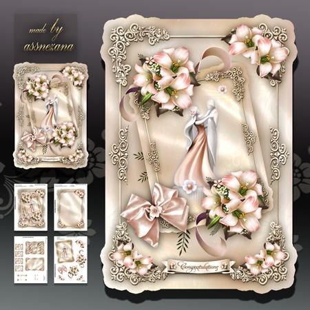 Anniversary Wedding Card Mini Kit As Snezana Design