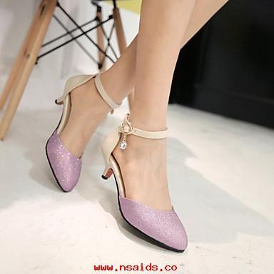 Zapatos negros Tacón cono de punta redonda para mujer 6XM5iq7W