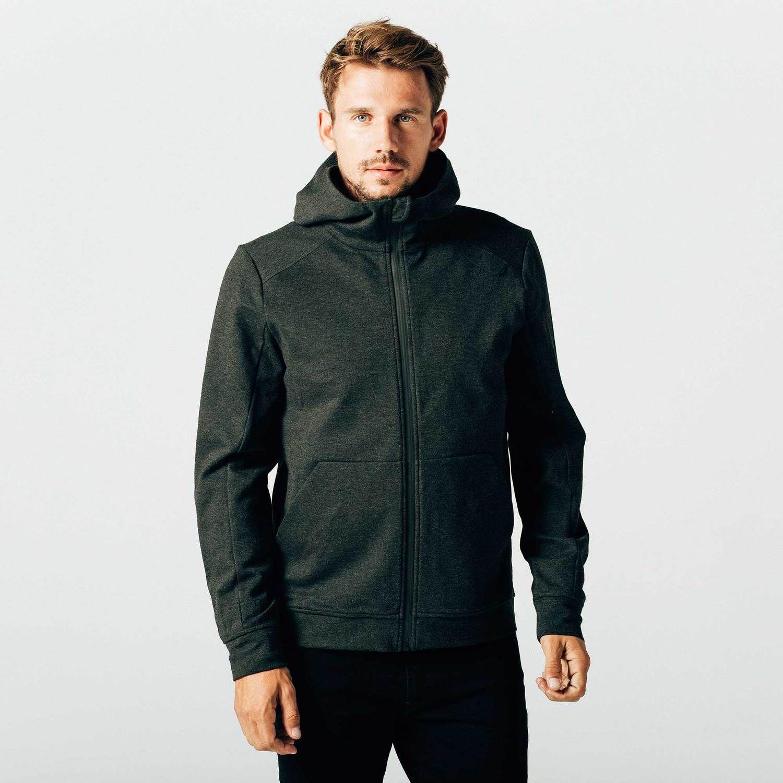 Mens Travel Hoodie In Grey 120 DSTLD Travel hoodie