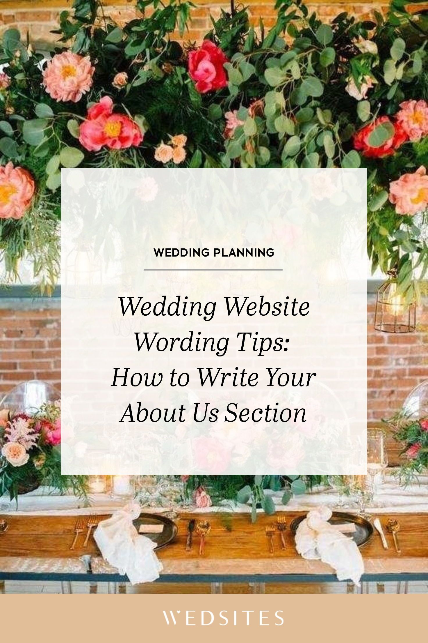 Wedding Website Wording Tips: How to Write Your About Us Story