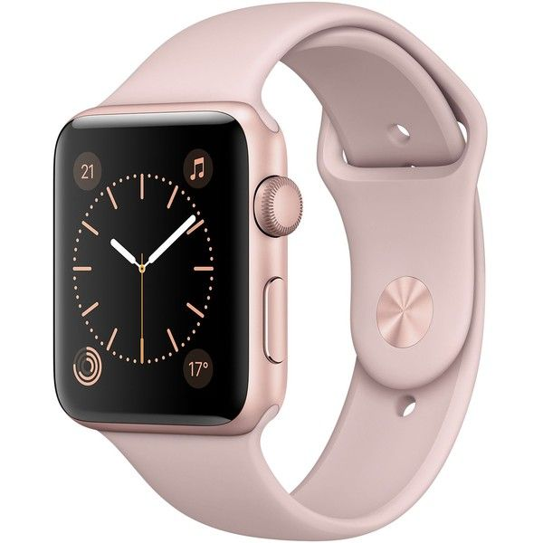 Apple Watch Rose Gold Aluminium Case with Pink Sand Sport Band