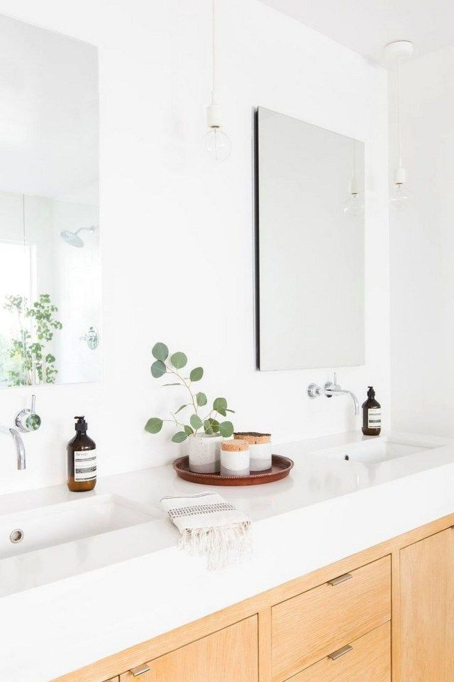 25 Fresh & Modern Powder Room RevealYou are also able to get a really great idea of the wall color in the restroom. Sneak a medication cabinet in your powder room if you're able to. Or m... #modernpowderrooms