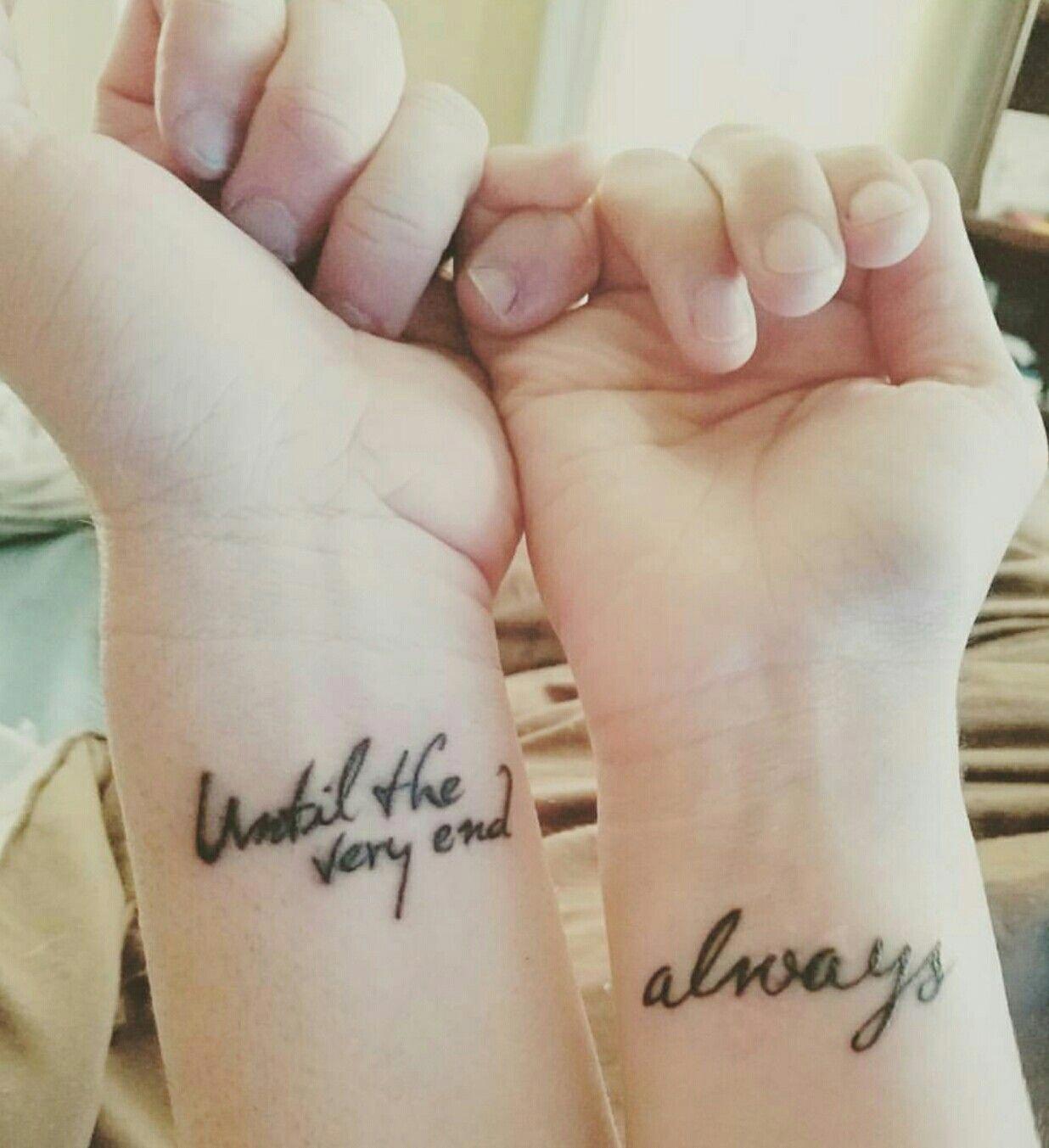 9 17 16 My 4th Tattoo Harry Potter Couples Tattoo Coupletattoos Harry Potter Couples Harry Potter Tattoo Small Harry Potter Tattoos