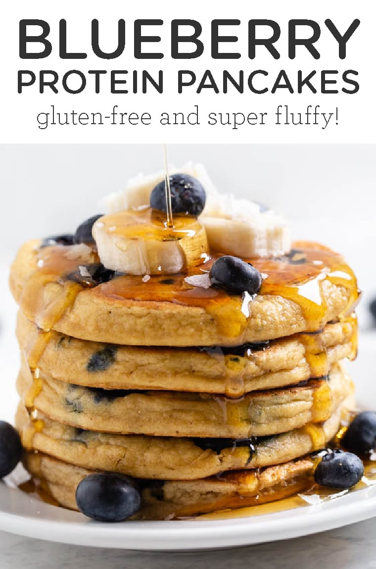 The BEST Blueberry Protein Pancakes [GF] - Simply Quinoa