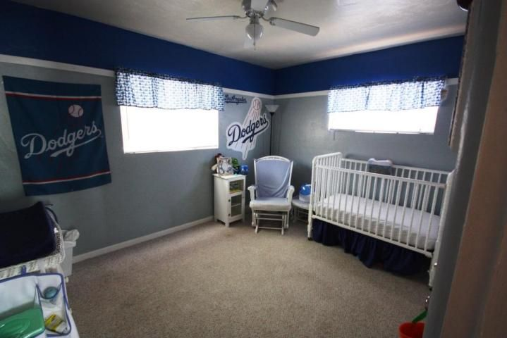 Dodgers Baseball Sports Blanket Logo Babys Bedroom Phoenix Arizona Home House