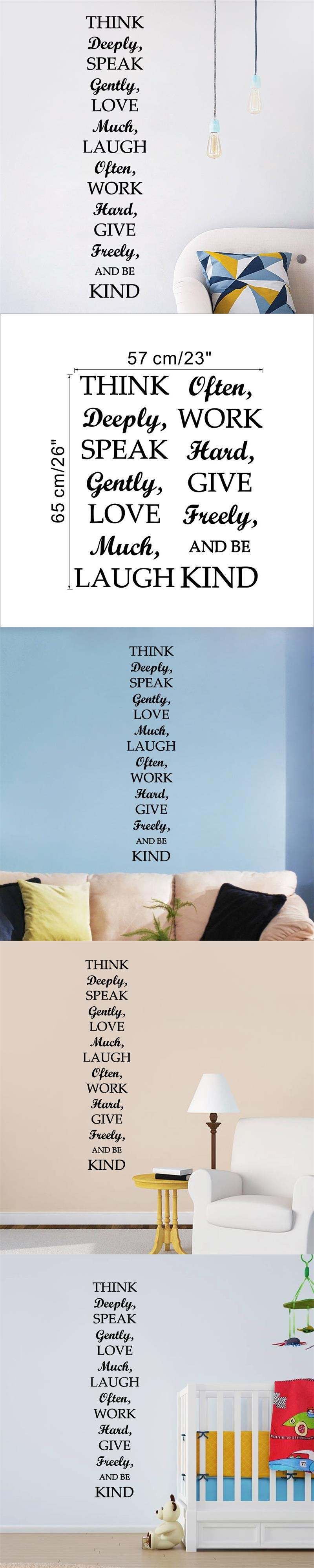 New home decor be kind inspiring quotes vinyl removable wall