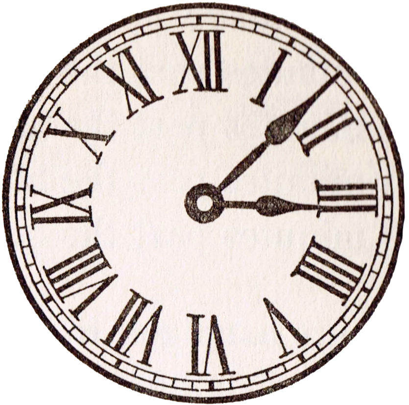 Antique Clock Face Graphics From School Book Clock Drawings