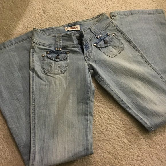 Hydraulic light blue flare jeans Used condition Hydraulic Jeans Flare & Wide Leg