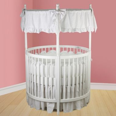 Dream On Me Sophia Posh Circular Crib In White Nursery Circular